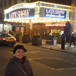 Ann at The Late Show