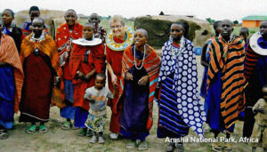 Jackie in African Village