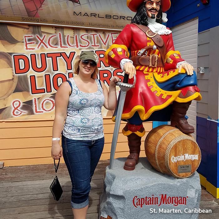 Megan in the Caribbean