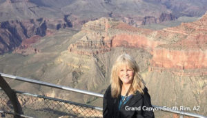 Donna at the Grand Canyon