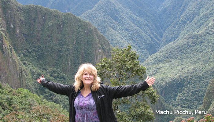 Donna at Machu Picchu